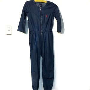 US Polo Assn. denim/dark blue jumpsuit size 10 GUC